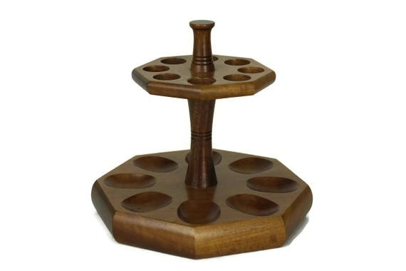 Vintage Wooden Pipe Stand Showcase, French Butz Choquin Pipes Collection Display Rack, Pipe Storage, Gift for Smoker