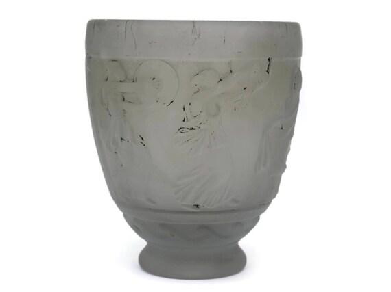Art Nouveau Vase by Georges de Feure. French Antique Glass Vase.