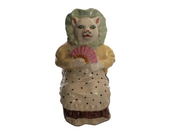Cat Figurine Smash Money Box, St Uze French Ceramic Piggy Bank