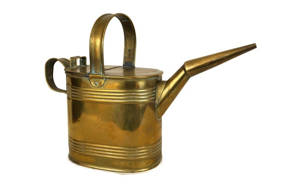 Antique Edwardian Brass Watering Can