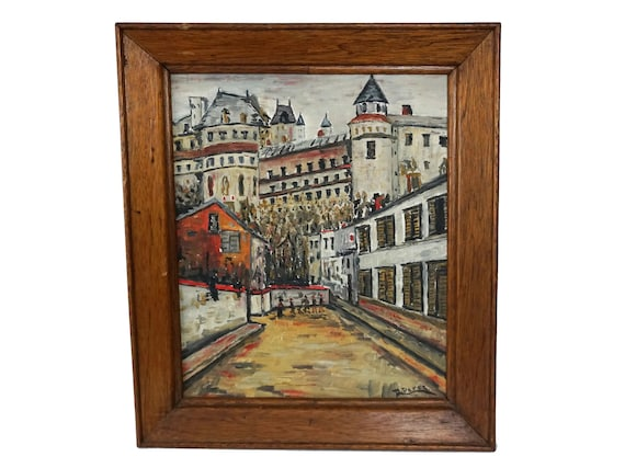 Paris Street Art Oil Painting, French Home Decor