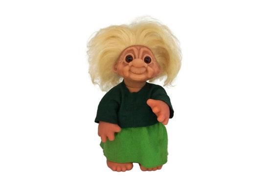 Thomas Dam Grandma Troll Doll, Original Vintage 1977 Made in Denmark