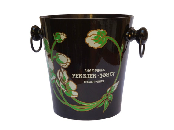 Perrier Jouet Champagne Bucket, Vintage French Advertising Bar Decor