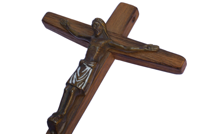 Ancient Viking Bronze Cross with Enamel / Genuine Viking