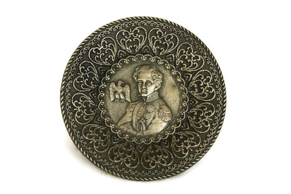 Vintage Napoleon Bonaparte Trinket Dish, French Coin Bowl, Portrait of Emperor's Son King of Rome L'Aiglon