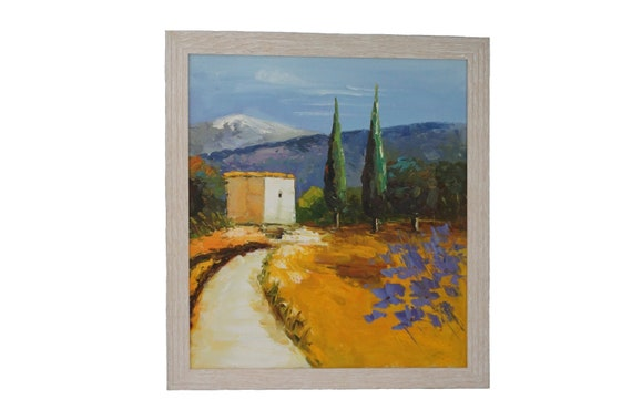 Provence France Country Landscape Oil Painting, Provencal Wall Art