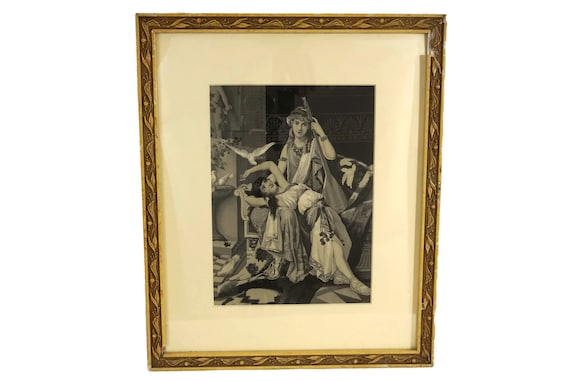 French Antique Stevengraph Woven Silk Picture, Music Lover and Mandolin Player, Lesbian Art and Gifts