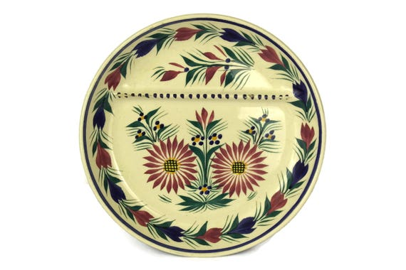 Quimper Pottery Asparagus Wall Plate, Hand Painted French Breton Faience, Country Kitchen Decor, Gifts For Mom