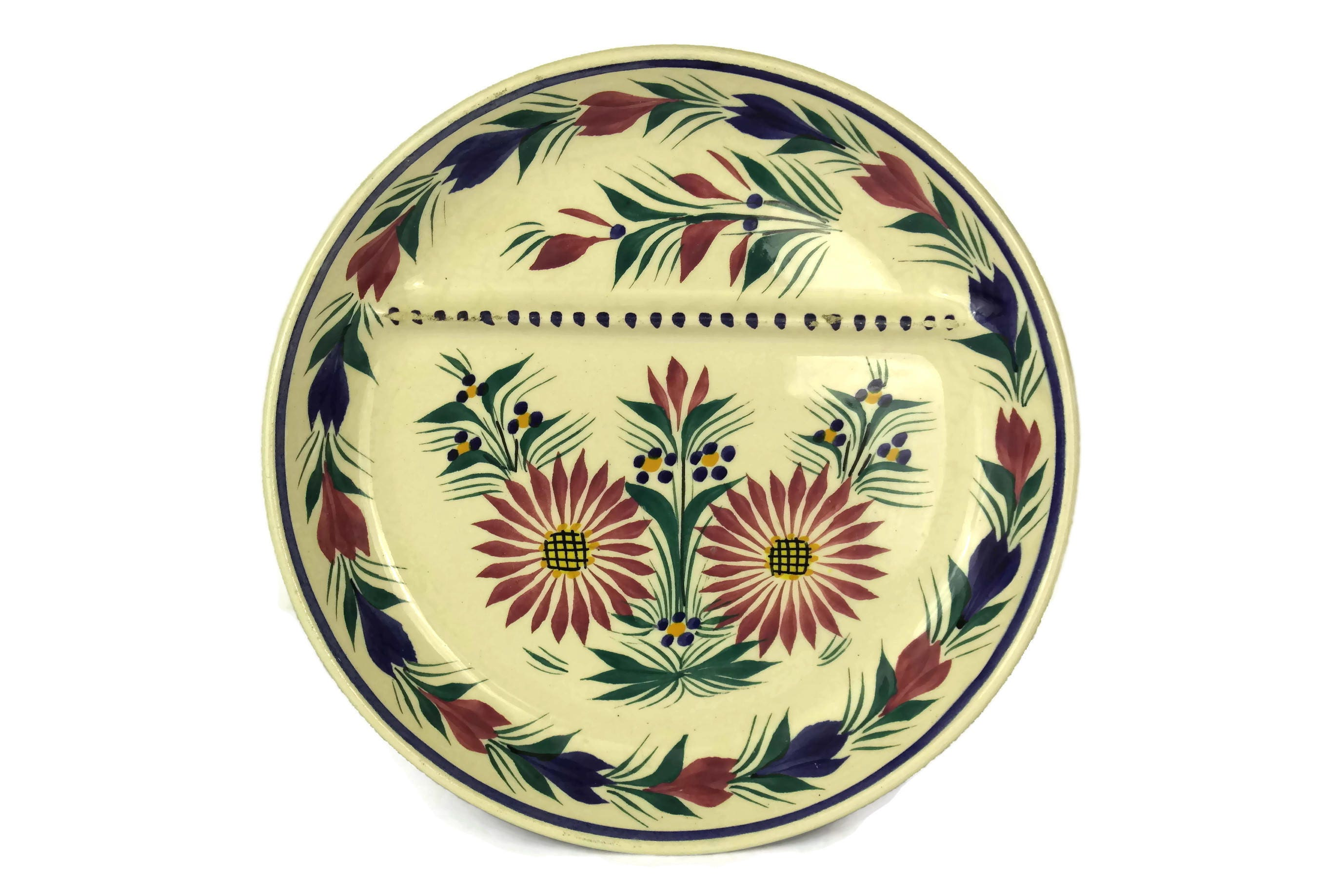 Quimper Pottery Asparagus Wall Plate Hand Painted French