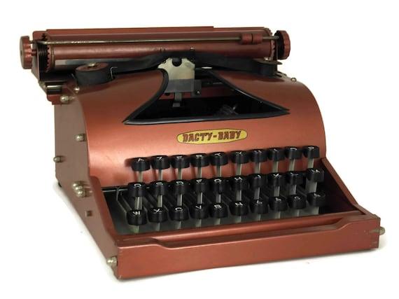 Pink Toy Typewriter. Vintage Dacty Baby Childrens Typewriter. Kids Bedroom & Office Decor. Gift For Writer.