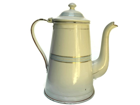 Vintage Enamelware Coffee Pot.