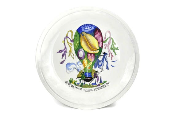 Villeroy and Boch Decorative Wall Plate, Porcelain Dinner Plate, Le Ballon after Jean Mercier Design