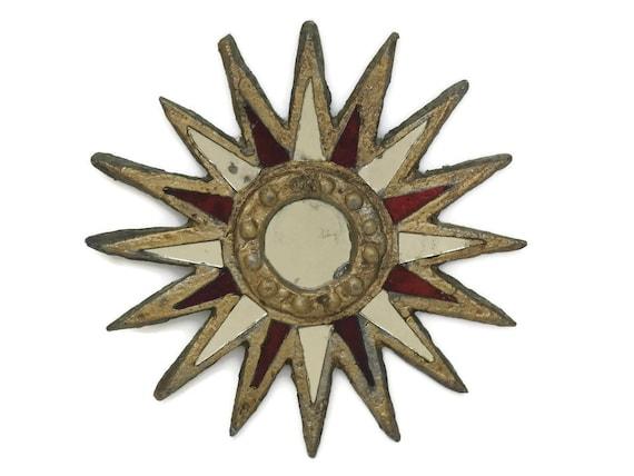 Mid Century Sun Burst Mirror.