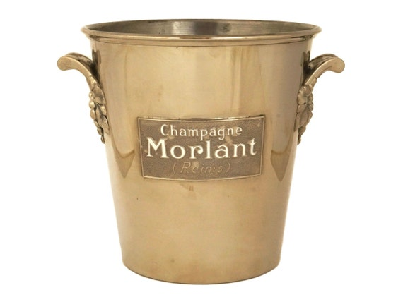 Vintage French Silver Champagne Ice Bucket, Morlant Champagne & Wine Bottle Cooler