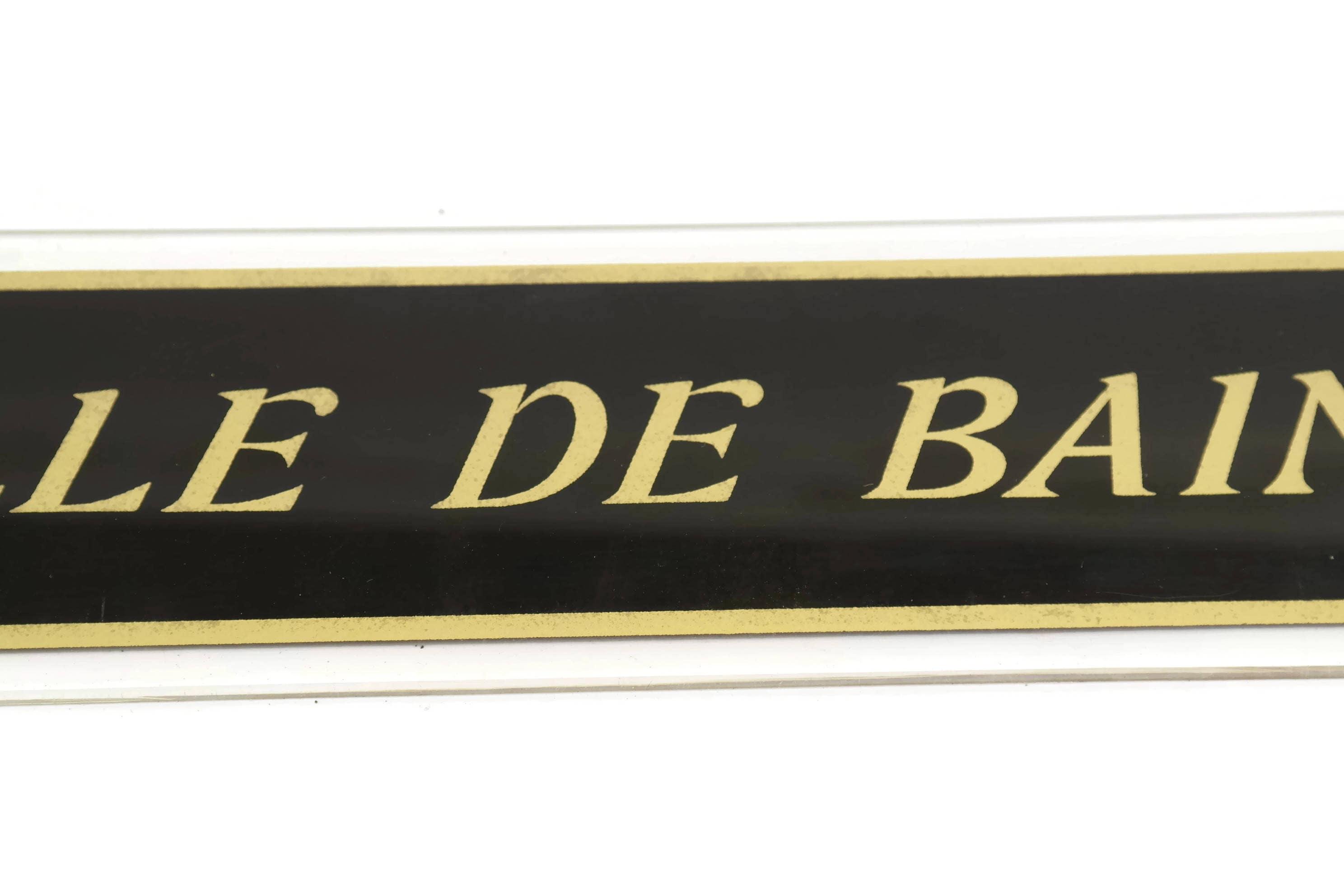 Lambris Pvc Salle De Bain Bricoman ~ French Bathroom Door Sign Vintage Black And Gold Salle De Bain Sign