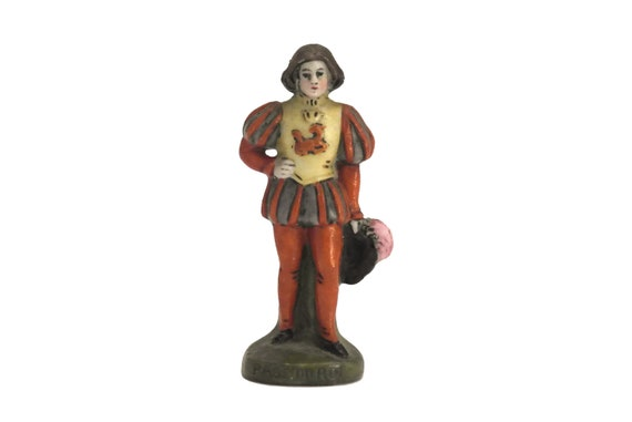 Vintage King Page Porcelain Miniature, German Scheibe Alsbach Figurine