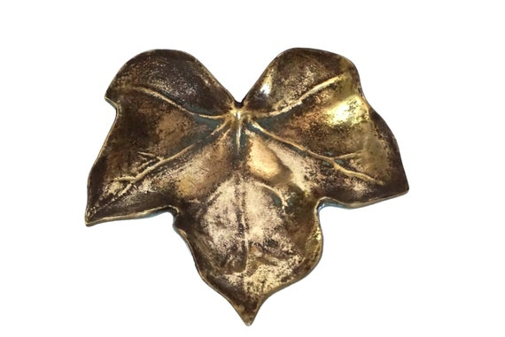 Bronze Leaf Pin Dish by Max Le Verrier, Mid Centur