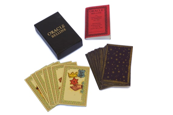 Tarot Card Deck of Horoscope Belline by Grimaud, Vintage Fortune Telling and Astrological Divination Gifts