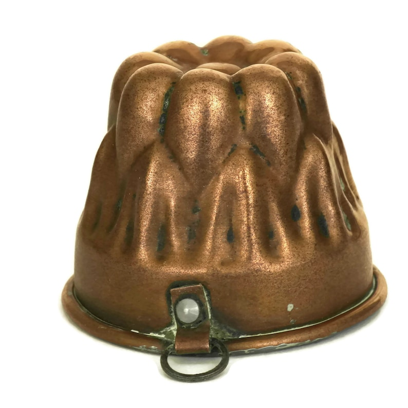 Antique French Copper Cake Mold Rustic Kitchen Bakeware Pan