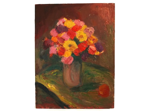Orange Flower Still Life Art