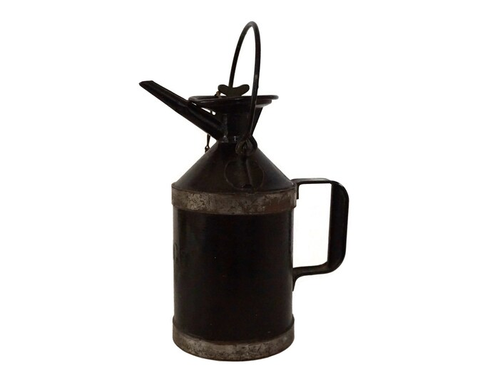 French Antique Oil Can, SNCF Railway Company, Collectible Train Memorabilia Gifts for Him