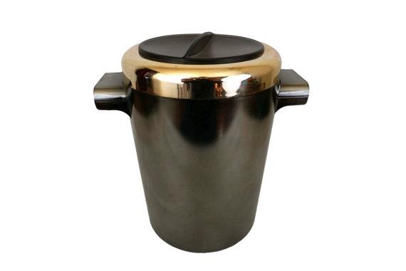 Vintage Modernist Barware Ice Bucket, Innoplan Design Made in Switzerland