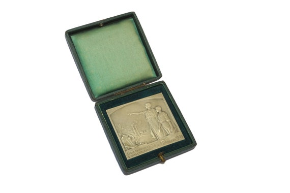 French Art Deco Silver Medal, Engineering Student Gift