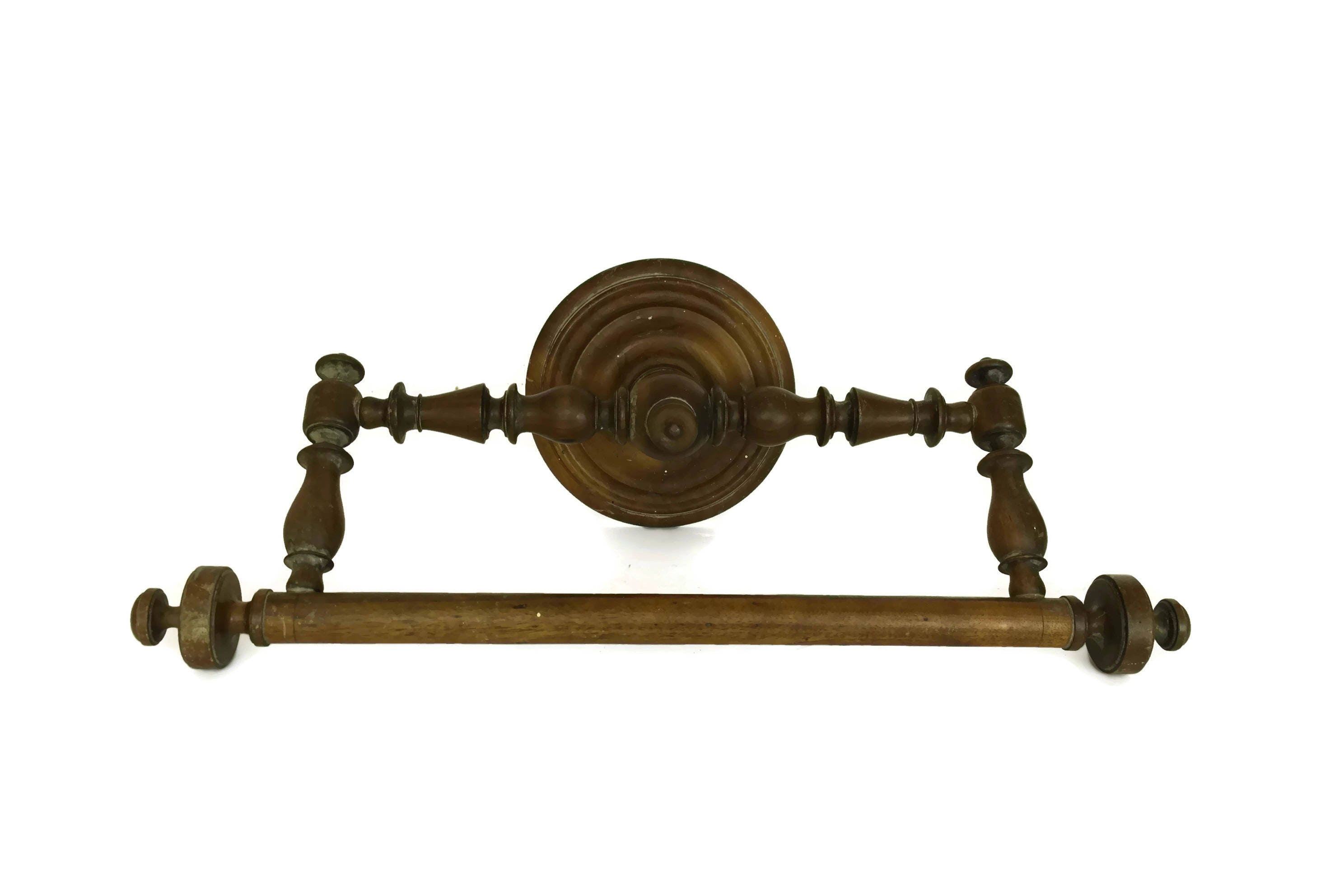 French Antique Ciel De Lit Towel Rail Edwardian (1901-1910)