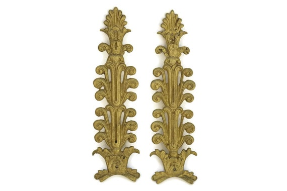 Antique Bronze French Furniture Moldings.