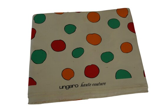 Emanuel Ungaro Haute Couture Polka Dot Fabric, Vintage French Fashion and Sewing Supplies