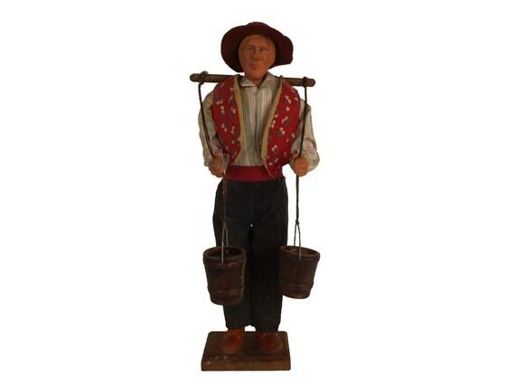 Gerard Depardieu Doll, Jean De Florette French Santon Figure, Provencal Folk Art Figurine