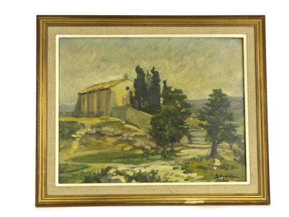 French Country  Church Painting