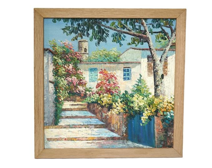 French Riviera and Coastal Landscape Painting, Mediterranean Sea Art
