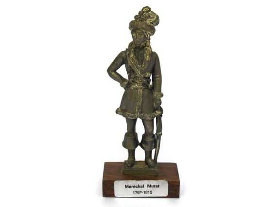 Vintage French Pewter Military Figurine, Joachim Murat Marshal of France, History of France