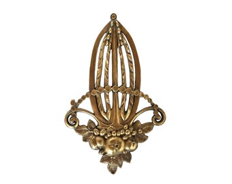 Antique Bronze Fruit Furniture Ornament, French Hardware Molding Decoration