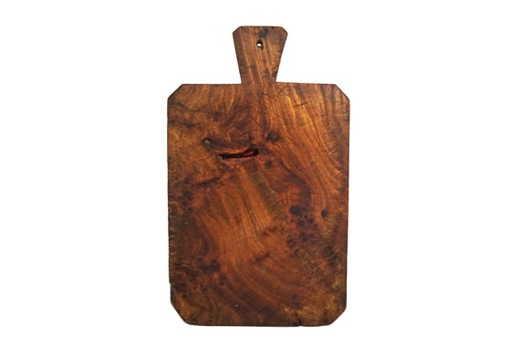 Large Antique Olive Wood Cutting Board, Rustic French Chopping Board