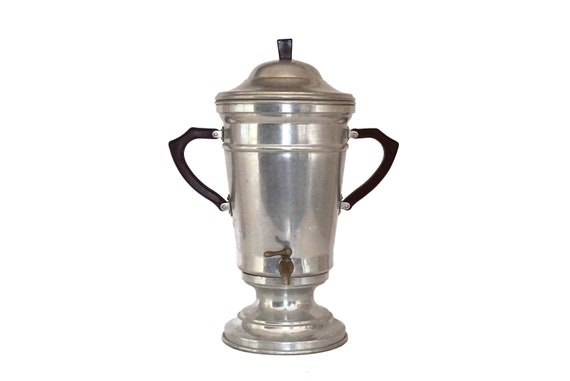 Large French Coffee Pot with Bakelite Handles and Spigot, Art Deco Bar Counter Drinks Dispenser