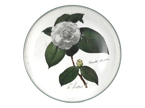Villeroy and Boch Camellia Plate. 1980 New Year Collector Plate. Camellia Alba Plena. Botanical Plate. Botanic Garden Decor.