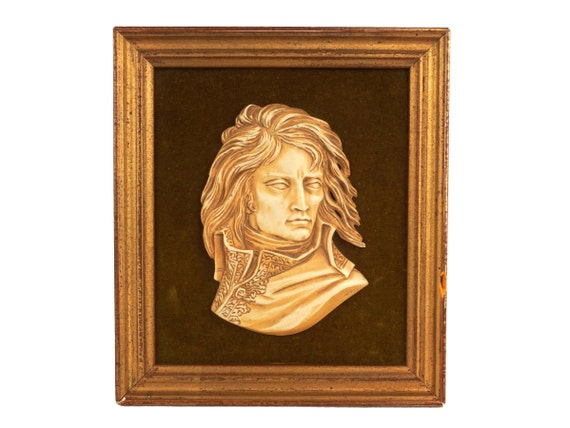 General Napoleon Bonaparte Portrait Plaque by David d'Angers, French Military Decor