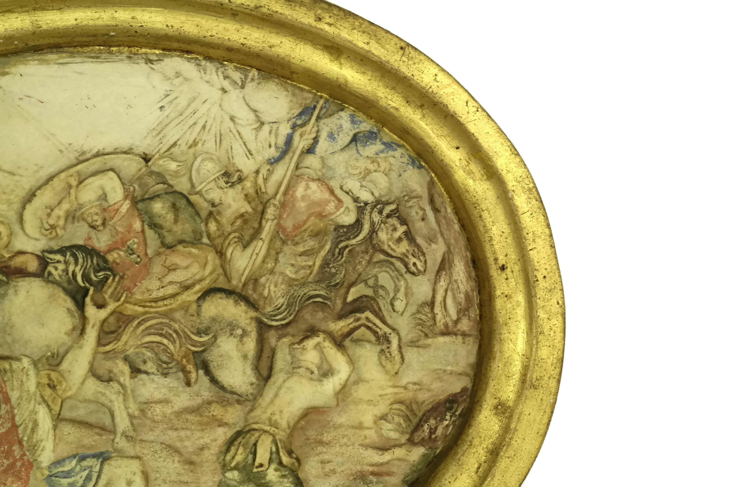 The Conversion Of Saint Paul. Antique Chalkware Religious Wall ...
