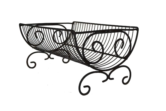 Vintage French Wire Dish Drainer, Plate Draining Rack, Rustic Country Kitchen Decor