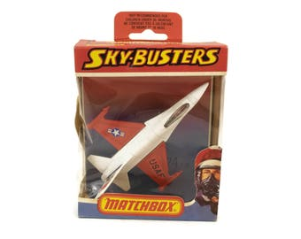 Vintage Matchbox Sky-Busters B-24 F 16. Die Cast Metal Model Airplane. Kids Plane Toy. 1978 Lesney Products.
