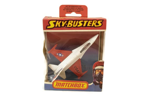 Die Cast Metal Model Airplane Toy, Vintage Matchbox Sky-Busters B-24 F 16