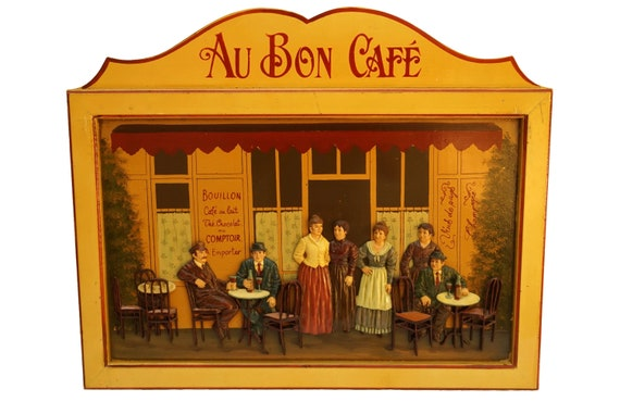 Vintage French Cafe Wall Sign, Restaurant and Patio Decor