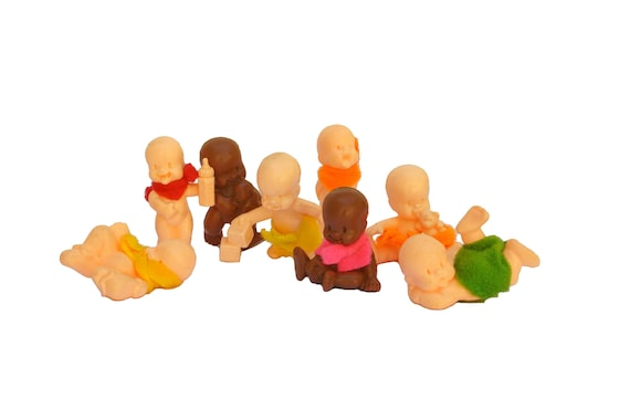 Vintage Lil Babies Doll Figures, Plastic Baby Toys, Collectible Miniatures