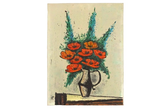 Mid Century Flower Painting