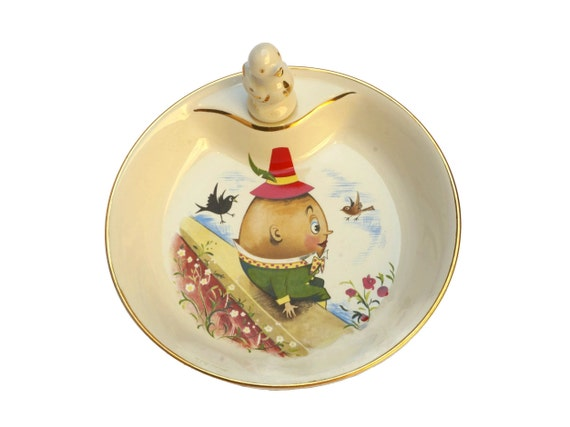 Porcelain Baby Feeding Dish with Humpty Dumpty