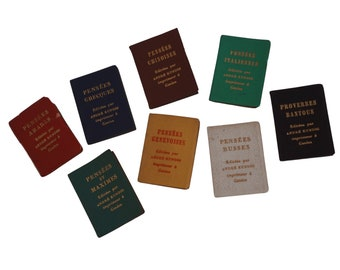 Miniature French Book Set Collection by Andre Kundig of Quotes, Sayings and Proverbs