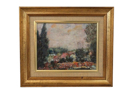 French Impressionist Landscape Painting, Framed Original Signed Art