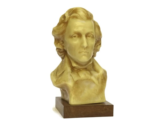 Chopin Composer Head Bust Statue, Classic Music Decor and Gifts